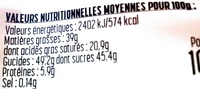 Nougaty - Nutrition facts