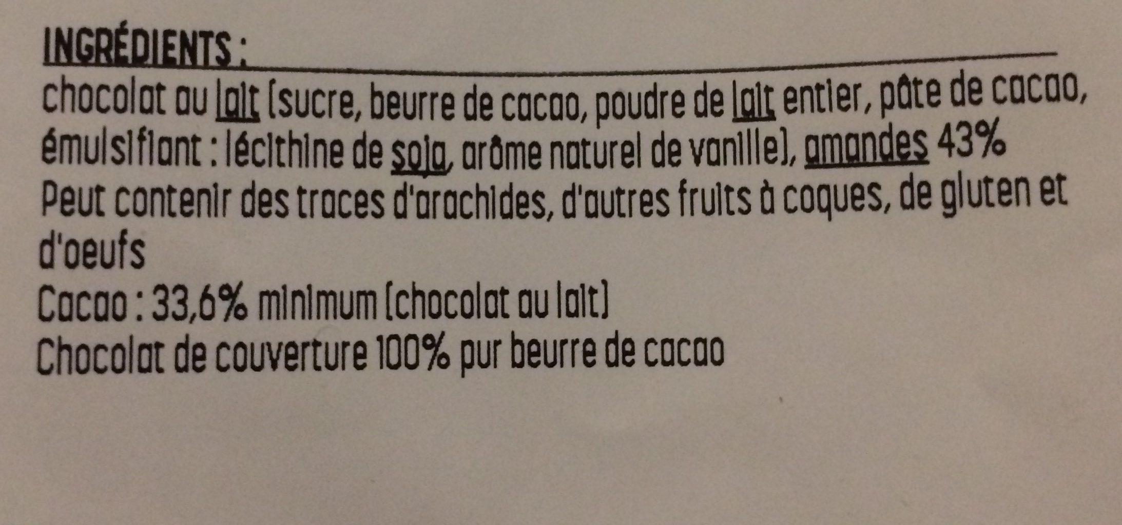 Rocs au amandes - Ingrédients