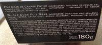 Foie Gras Pato Entero 180 Gr rougie - Ingredientes
