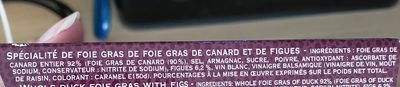 Alliance de Foie Gras de Canard et de Figues - Ingredients - fr