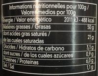 Bloc de Foie Gras de Canard avec Morceaux - Voedingswaarden - fr