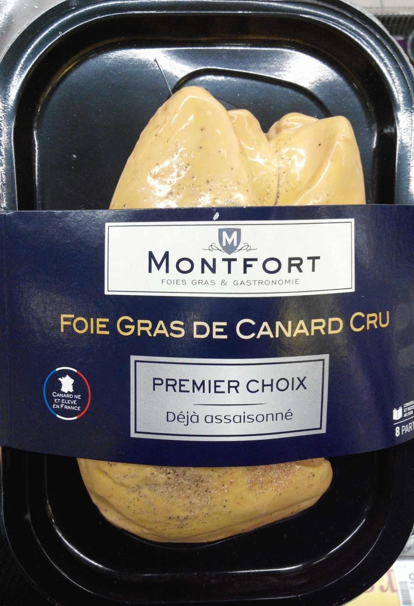 foie gras de canard cru premier choix d j assaisonn montfort 400 g. Black Bedroom Furniture Sets. Home Design Ideas