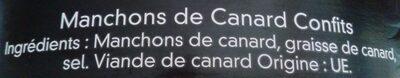 Manchons de canard confits - Ingrediënten - fr