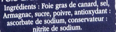 Foie gras de canard entier - Ingredients - fr