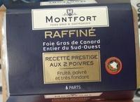 Foie gras de canard entier du Sud-Ouest, recette prestige aux 2 poivres - Produit