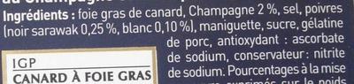 Foie gras de canard entier du Sud-Ouest, recette prestige aux 2 poivres - Ingredients