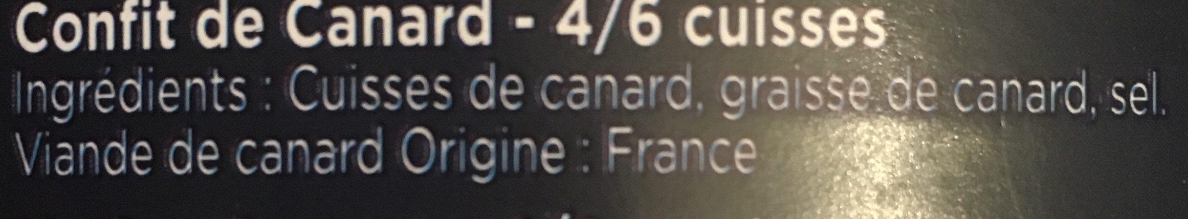 Confit de canard - Ingrediënten