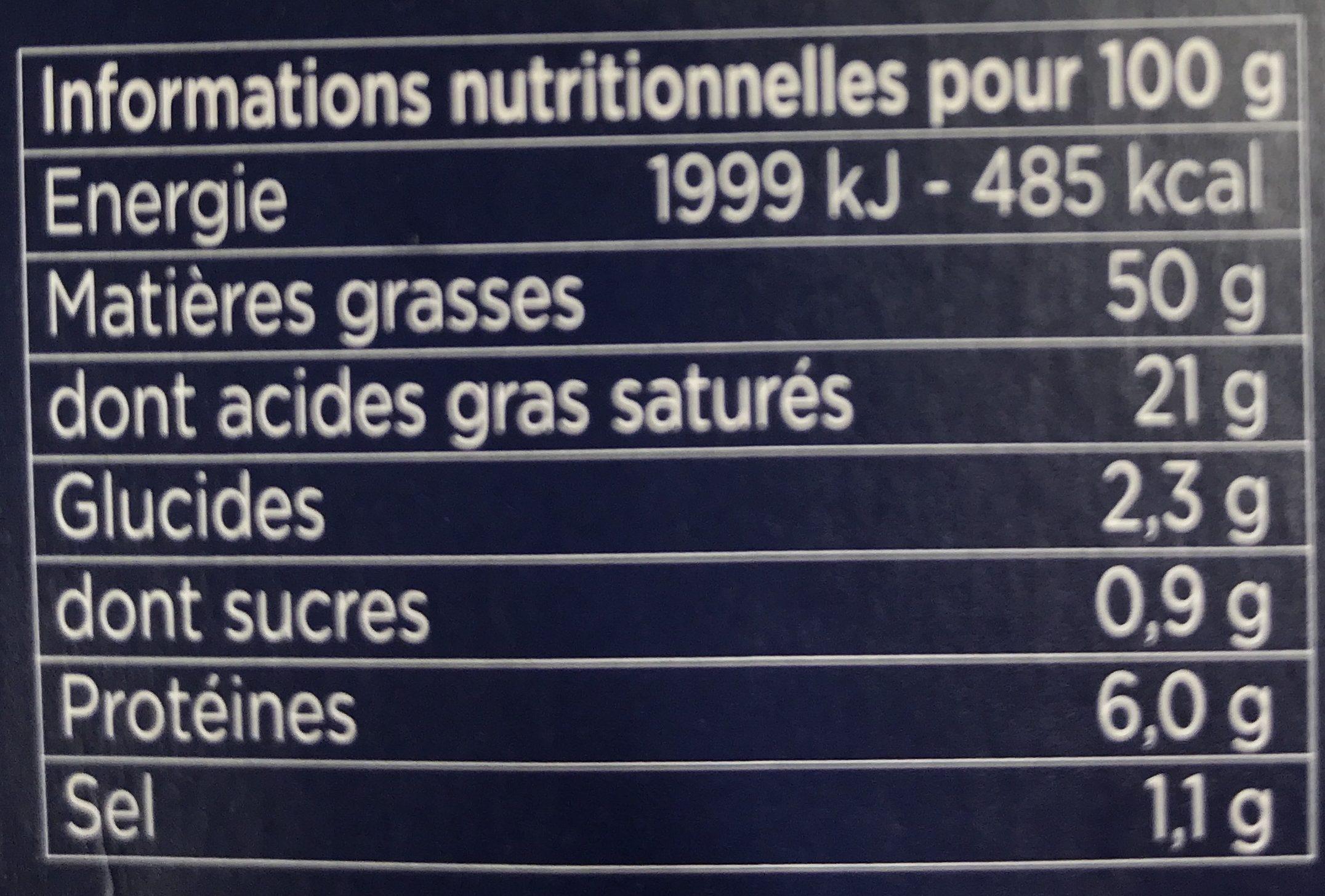 Bloc de foie gras de canard - Nutrition facts