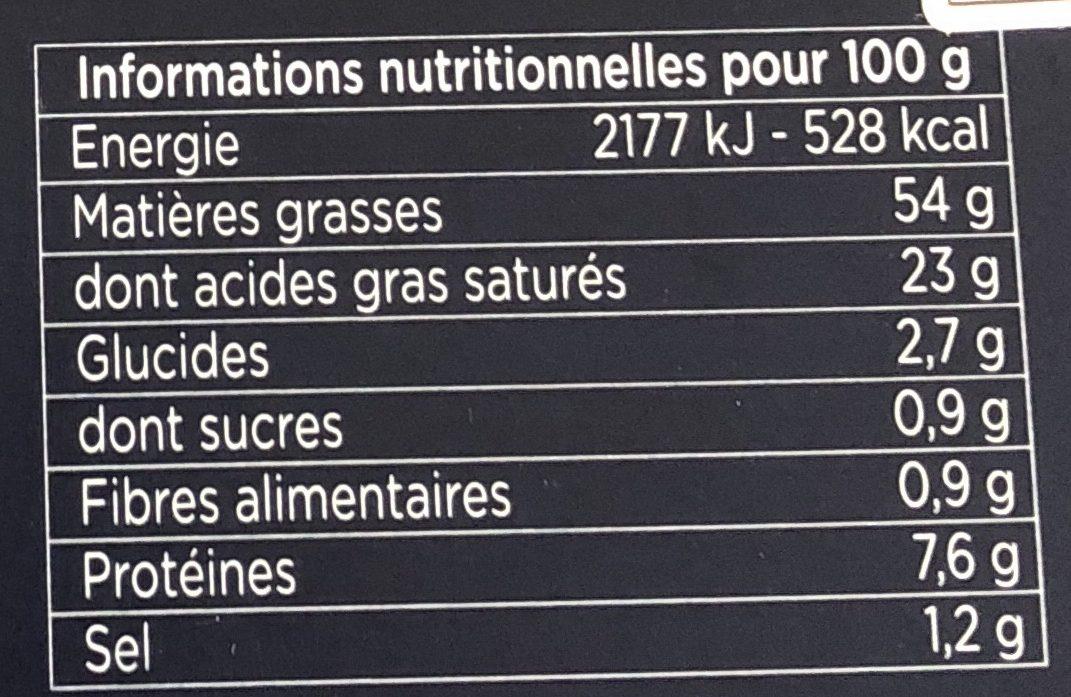Foie gras de canard entier du Sud-Ouest - Voedingswaarden