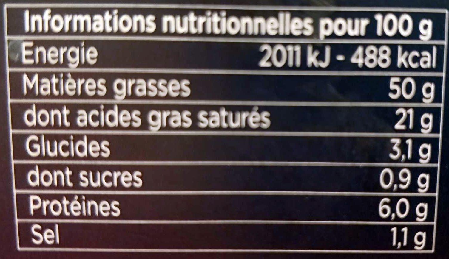 La Bûche Grande Sélection - Voedingswaarden
