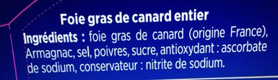 Foie gras de canard entier Excellence - Ingrediënten