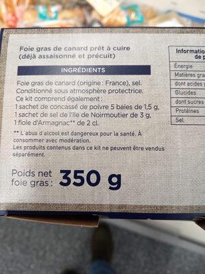 Mon kit foie gras  Montfort - Ingredients - fr