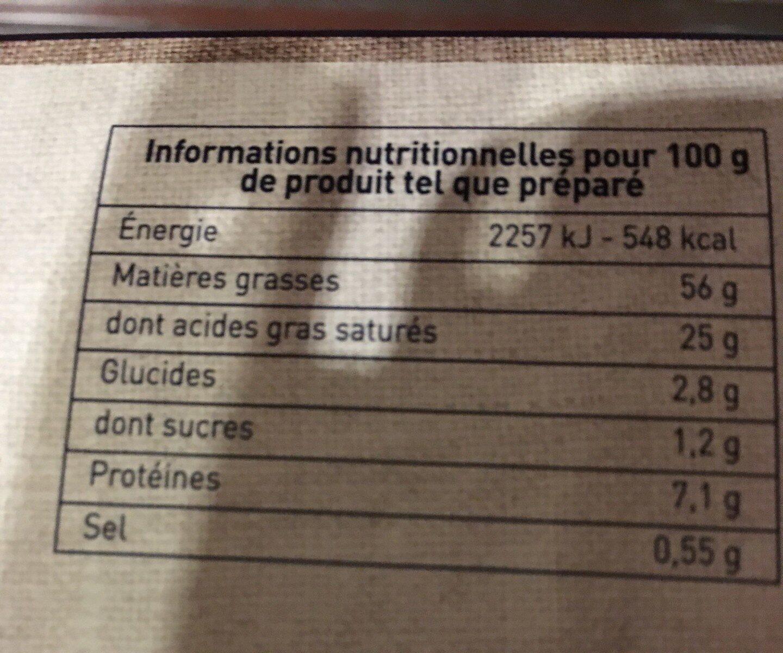 Mon kit foie gras  Montfort - Nutrition facts - fr
