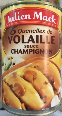 6 quenelles de volaille sauce champignon - Produit