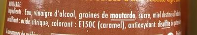 Moutarde aigre-douce - Ingrédients