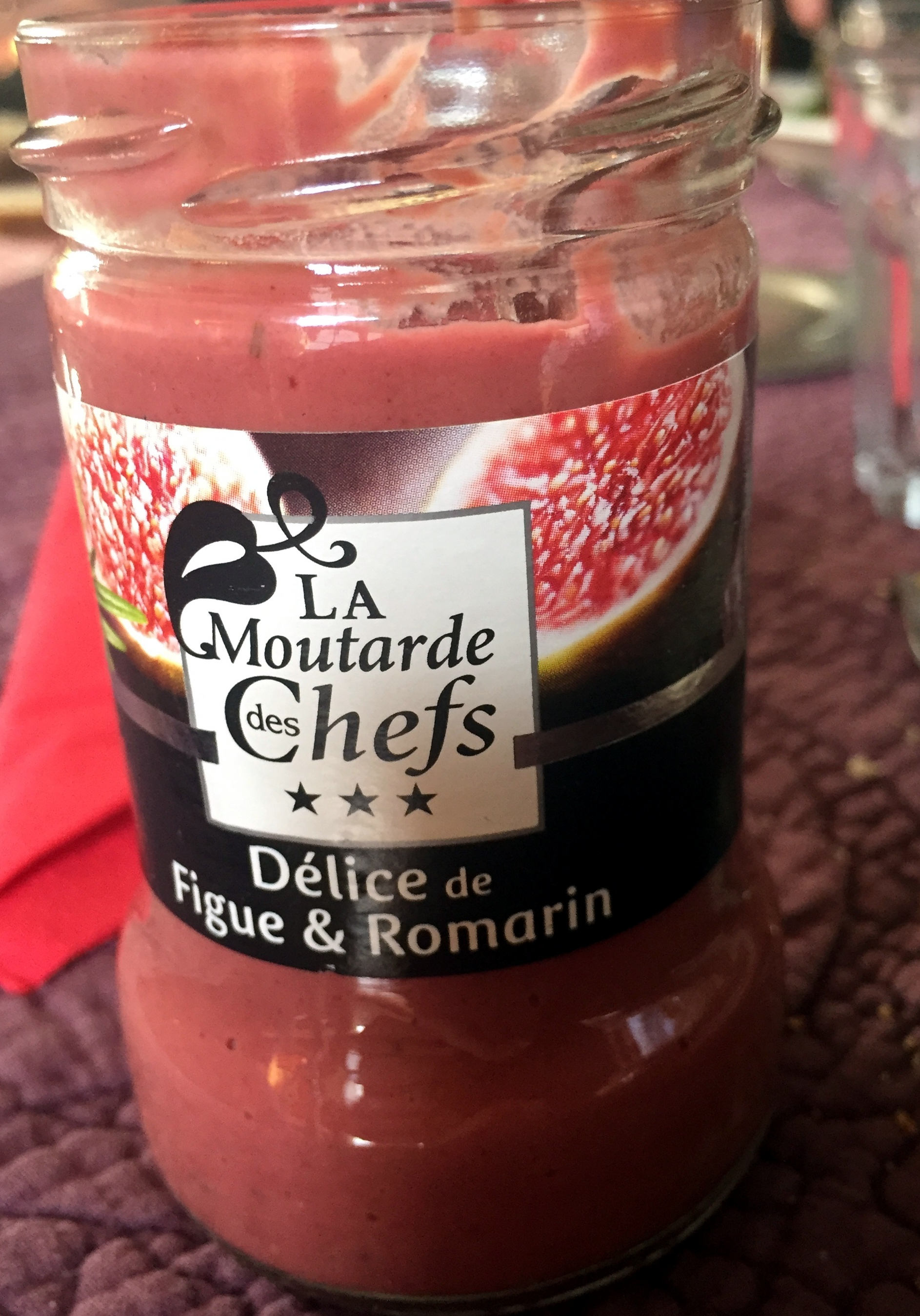 Moutarde figue & romarin - Produit - fr