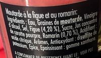 Moutarde figue & romarin - Ingrédients - fr