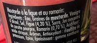 Moutarde figue & romarin - Informations nutritionnelles - fr