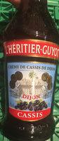Crème de cassis de Dijon - Produit