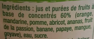 Coktail Exotique 10 Fruits 1 l - Ingrediënten
