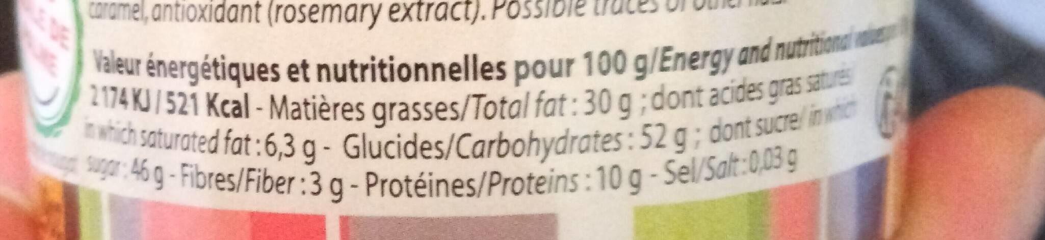 Ganou - Informations nutritionnelles - fr