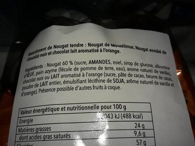 Nougat de montelimar lait orange - Ingrediënten