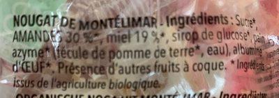 Nougat de Montélimar bio - Ingredients