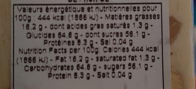 Nougat De Montelimar Tendre - Informations nutritionnelles