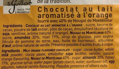 Nougat de Montelimar - Ingrediënten