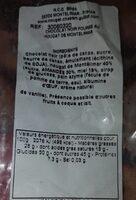 Nougat chocolat - Nutrition facts