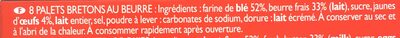 130G Sable Pont-aven Traou Mad - Ingrédients - fr
