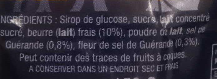 Caramel au beurre salé - Ingrédients - fr