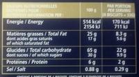 Les Galettes de Pont-Aven - Información nutricional