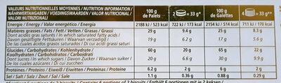 Assortiment palets et galettes de Pont-Aven - Voedingswaarden - fr