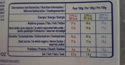 Assortiment de Crêpes Fourrées - Informations nutritionnelles - fr