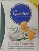 Crêpes Fourrées Fromage Boursin Ail & Fines Herbes - Produit - fr