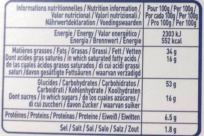 Crêpes Fourrées Fromage Boursin Ail & Fines Herbes - Informations nutritionnelles - fr