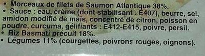 Saumon riz legumes - Ingrédients - fr