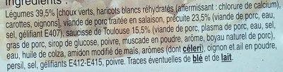 Potee paysanne - Ingrédients - fr