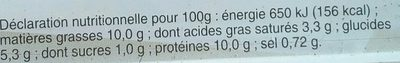 Potee paysanne - Informations nutritionnelles - fr