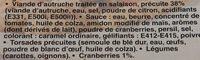 Autruche Sauce aux Cranberries - Ingrediënten - fr