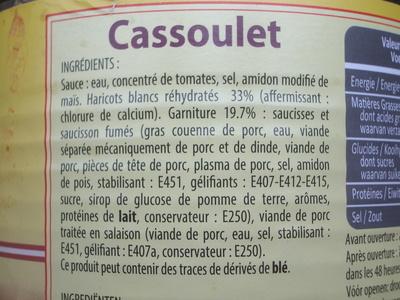 Cassoulet - Ingrédients - fr