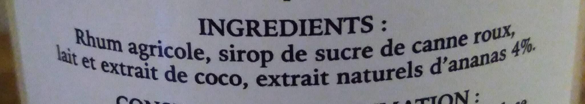 Clement Punch coco 70cl - Ingrédients
