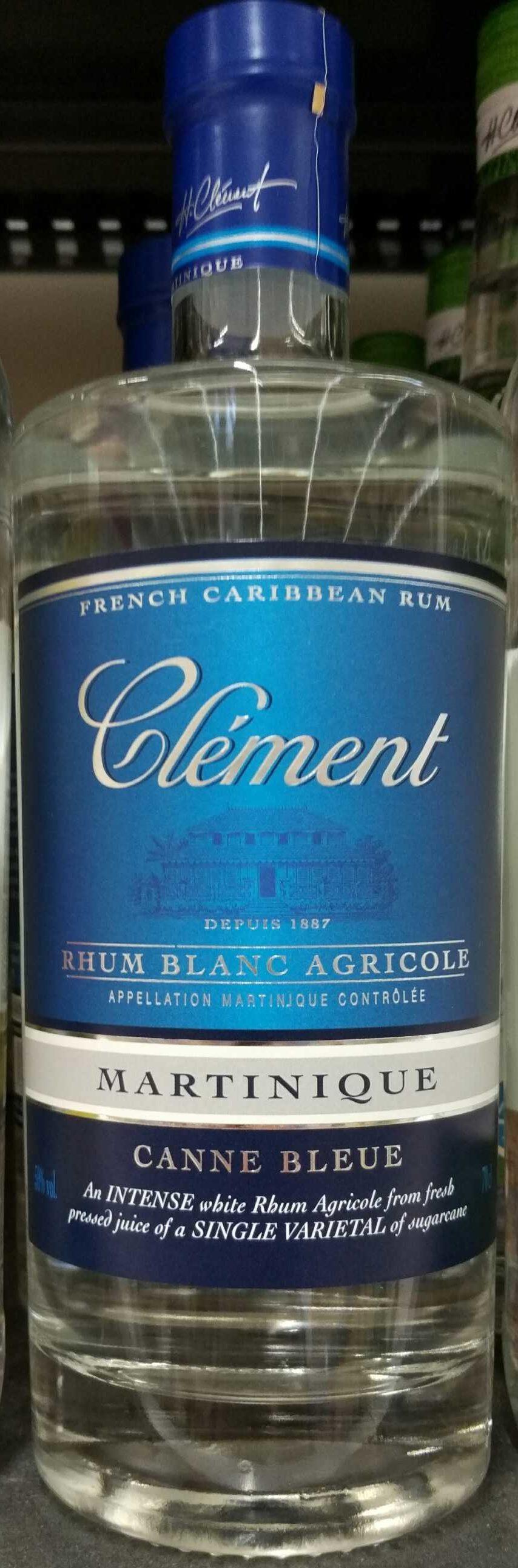 Clement Rhum Blanc Canne Blu Agricole 70 CL - Produit
