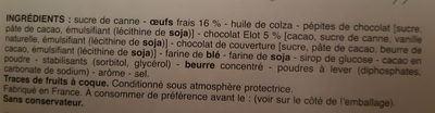 Brownie au chocolat Elot - Ingredients - en