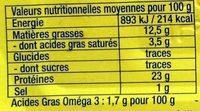Sardines Piquantes à l'huile de Tournesol - Nutrition facts - fr