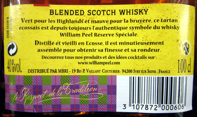 Old Blended Scotch Whisky - Ingredients