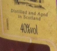 Whisky Ecosse blended sans âge 150 cl William Peel - Informations nutritionnelles - fr