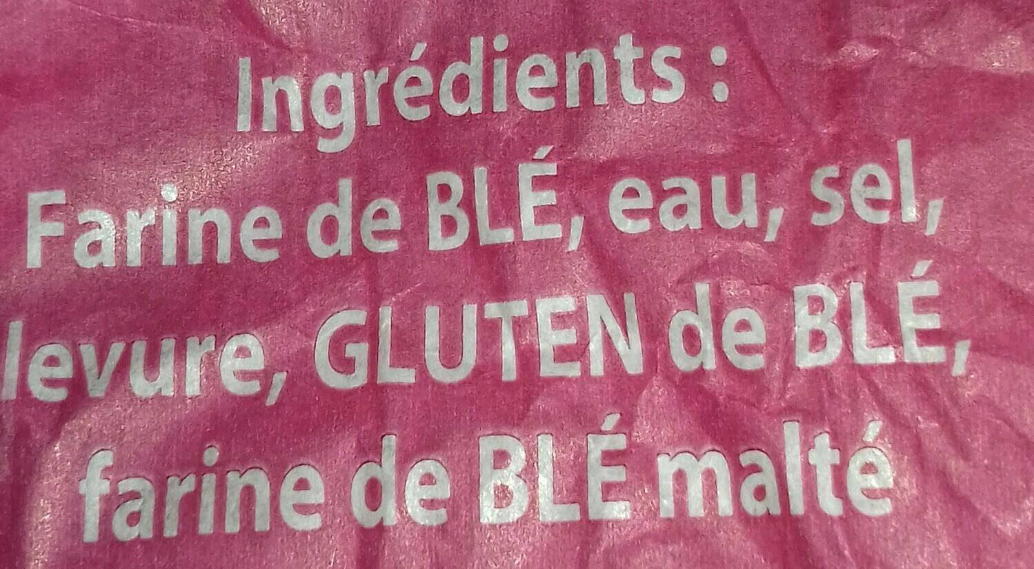 Baguette Moulée 250 grs - Ingredienti - fr