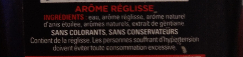 Ultra-Concentré Réglisse Anis - Ingrédients - fr